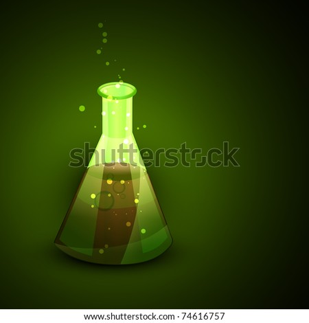 vector flask with toxic element present in it