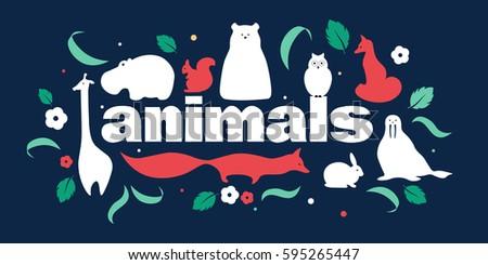 vector flat animals design