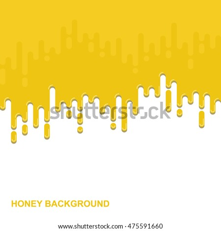 Vector flat background. Dripping honey backdrop. Colorful design illustration. Paint illustration #475591660