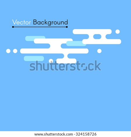 Vector flat background with clouds