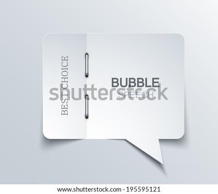 vector flat bubble speech background. Eps 10