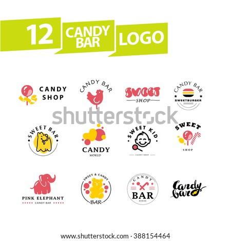 Candy shop logos