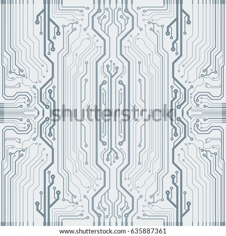 vector flat circuit board