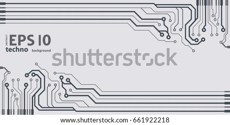 vector flat circuit board