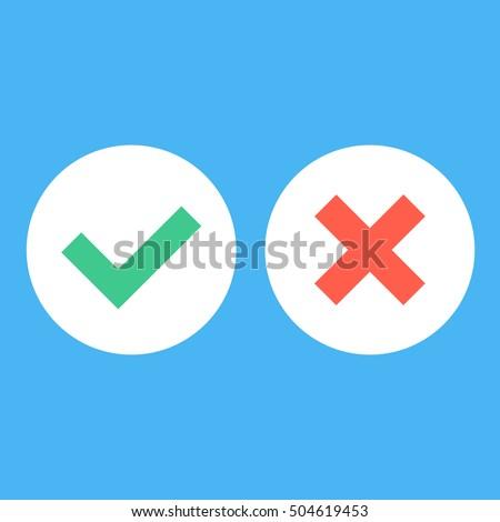 vector flat design checkmarks