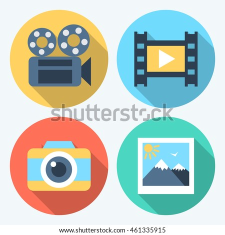vector flat design icons with
