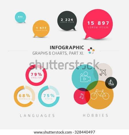 Vector flat design infographic elements - 11. part of my infographic bundle
