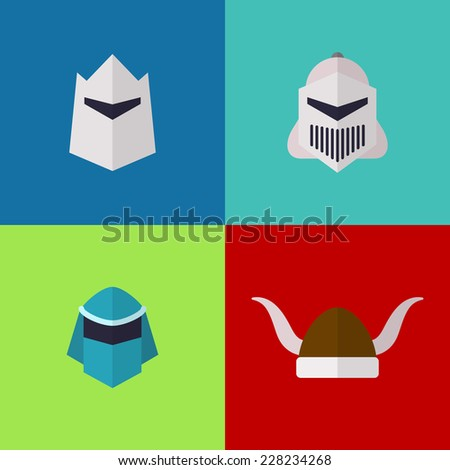vector flat game icons set