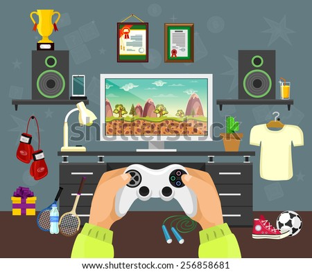 vector flat game illustration