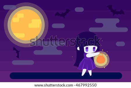 vector flat halloween