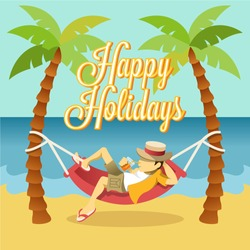 Vector flat holiday banner