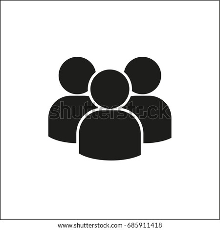 Vector flat icon group of people