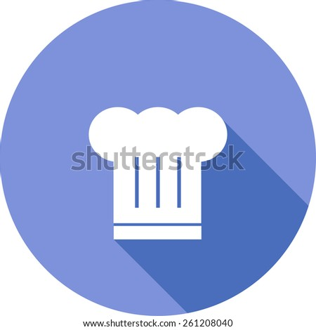 Chef Hat Icon Vector Vector Flat Icon of Chef Hat