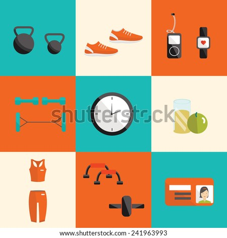 vector flat icon of fitness