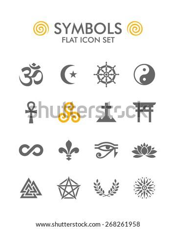Vector Flat Icon Set - Symbols  #268261958