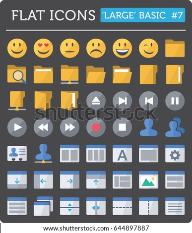 vector flat icons for