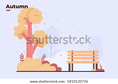 vector flat illustration fall