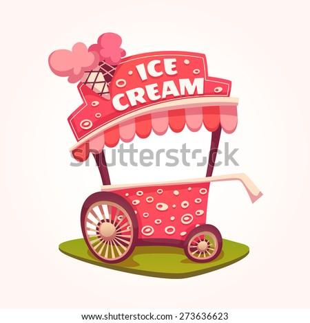 vector flat illustration of ice