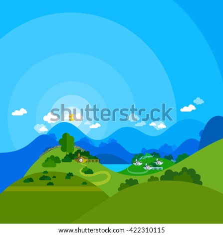 vector flat illustration of new
