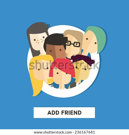 vector flat illustration with
