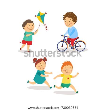 vector flat kids activity in