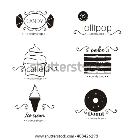 vector flat logo collection for