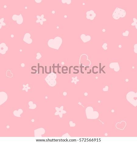 vector flat love seamless