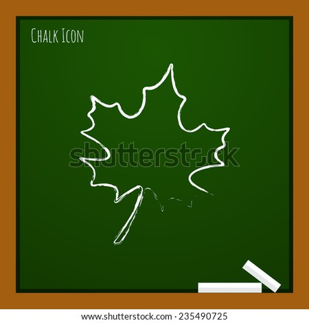 vector flat  maple  leaf icon