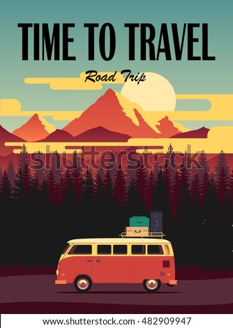 vector flat poster on theme