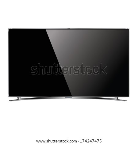 vector flat screen tv lcd  led