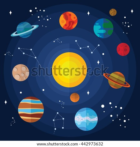 vector flat solar system with