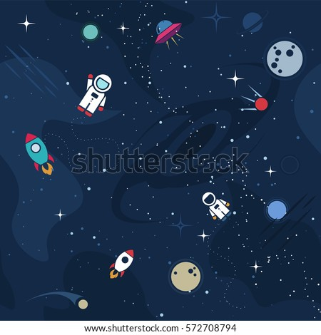 vector flat space seamless