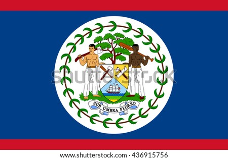 vector flat style belize state