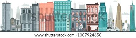 vector flat urban landscape