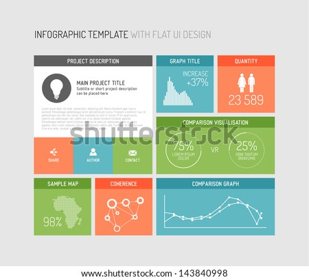 Free Flat Infographic Vector Elements - Download Free Vector Art ...