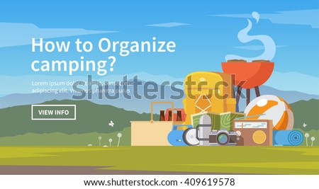 vector flat web banner on the
