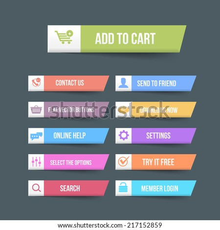 Vector Flat Web Buttons