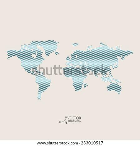 Vector flat world map