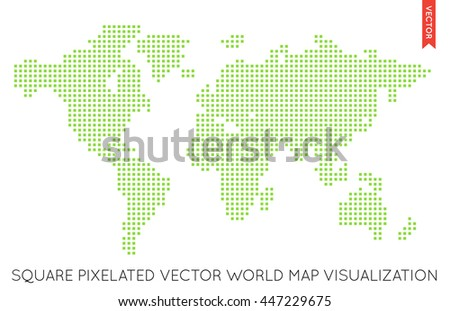 Pixel world globe map vector download free vector art stock vector flat world map infographic map of the world gumiabroncs Images