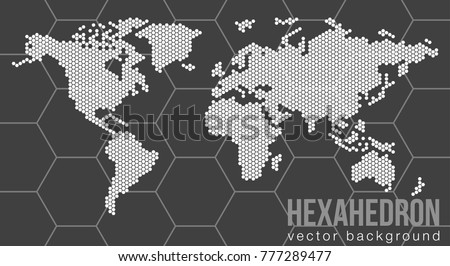 Diseo moderno del vector del mapa de suramrica descargue vector flat world map with atlantic ocean in the design of points of hexagons planet gumiabroncs Choice Image