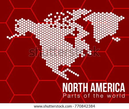 vector flat world map with