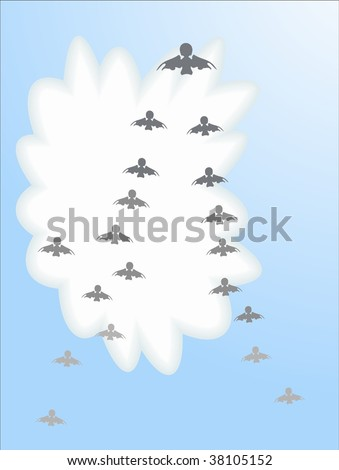 vector flock of birds