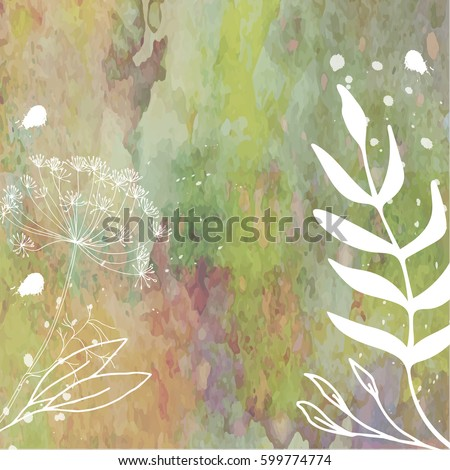 vector  floral background hand