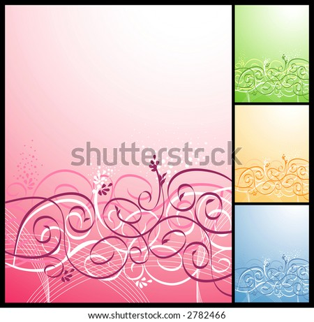 vector floral background. Very gentle and beautiful!