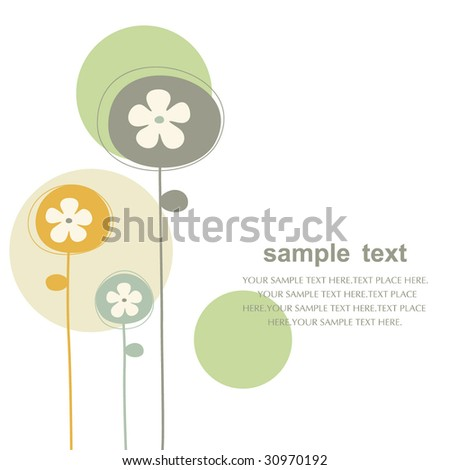 vector floral backgrounds design