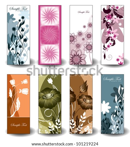 Vector Floral Banners. Eps10 Format.