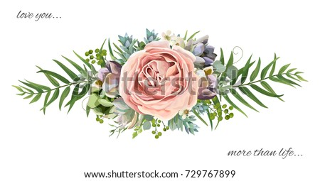 vector floral bouquet design