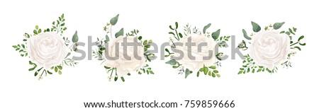 vector floral bouquet design
