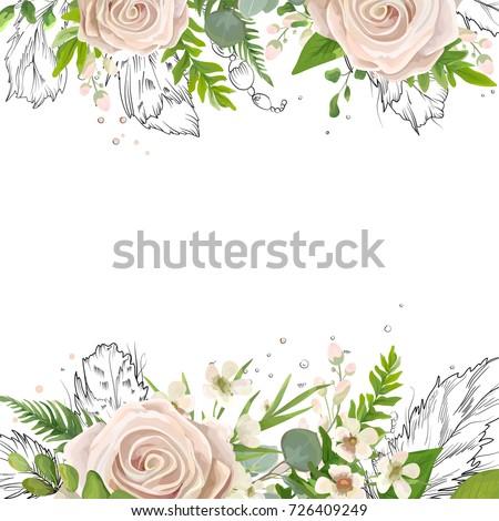 vector floral card art