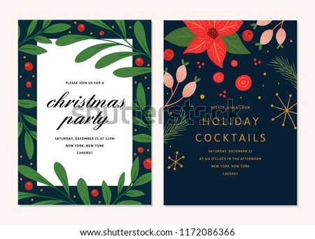 stock-vector-vector-floral-christmas-invitations-cocktail-party-template